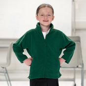 Kids full zip outdoor fleece