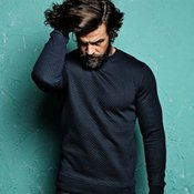 Claredale - Diamond quilted rib crew neck jumper