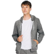 Unisex salt and pepper zip hoodie (MT497)