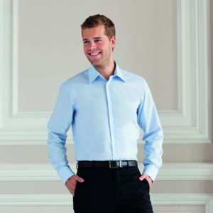 Long sleeved easycare tailored Oxford shirt Thumbnail