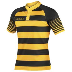 Junior touchline hooped match shirt Thumbnail