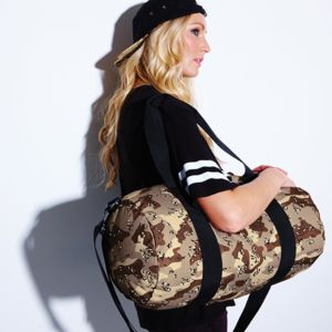 Camo barrel bag Thumbnail