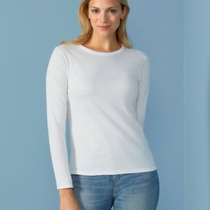 Ladies' Soft Style Long Sleeve T-Shirt Thumbnail