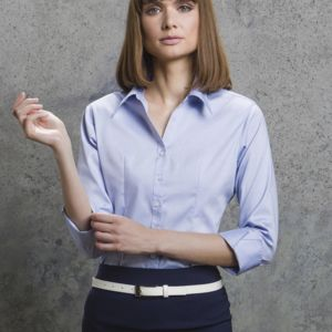 Ladies' 3/4 Sleeve Corporate Oxford Shirt Thumbnail
