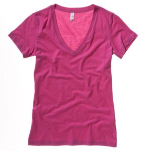 Jersey deep v-neck t-shirt Thumbnail
