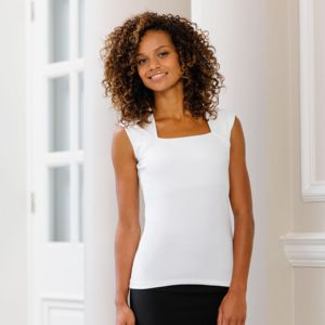 Women's sleeveless stretch top Thumbnail