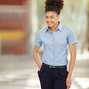 Lady-fit Oxford short sleeve shirt Thumbnail