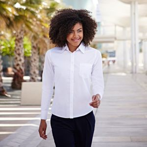 Lady-fit poplin long sleeve shirt Thumbnail