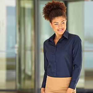 Lady-fit Oxford long sleeve shirt Thumbnail