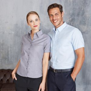 Short sleeve easycare Oxford shirt Thumbnail