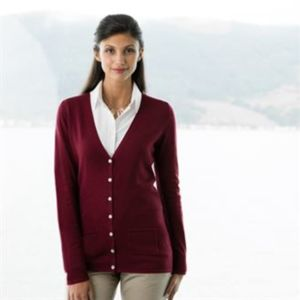 Women's v-button cardigan Thumbnail