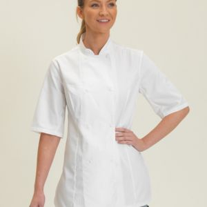 Dennys Ladies S/Sleeve Chefs Jacket Thumbnail