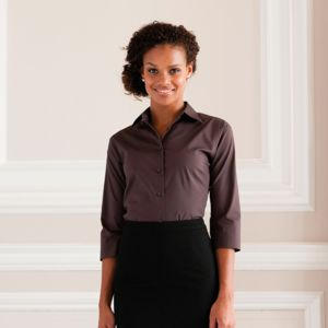 Women's ¾ sleeve easycare fitted shirt Thumbnail