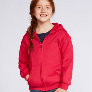 Gildan Children's Zipped Hooded Sweat Thumbnail