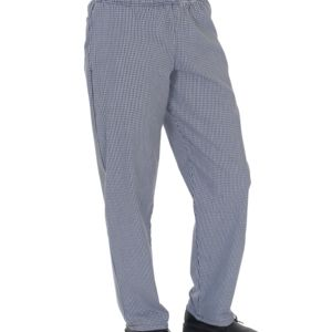 Blue/White Check Fully Elasticated Trouser Thumbnail