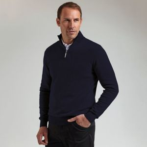g.Devon zip-neck cotton sweater (MKC7381ZN-DEV) Thumbnail
