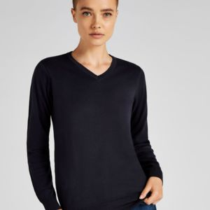 Ladies' Arundel Long Sleeve V-Neck Sweater Thumbnail